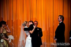 Nick Kissing his bride Elise- Lethal Rhythms