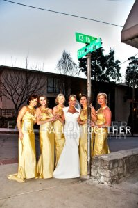Elise with her bridesmaids before her wedding at Opera- Lethal Rhythms