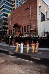 Elise with bridesmaids outside Opera Atlanta- Lethal Rhythms