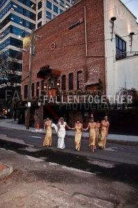 Elise with bridesmaids outside Opera Atlanta- Lethal Rhythms