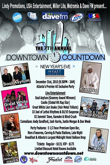 NYE Downtown Countdown Postcard Altanta