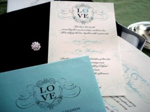 Black & Teal Silk Invitation- Lethal Rhythms