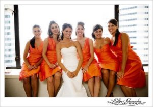 Orange Bridesmaid Dresses- Lethal Rhythms