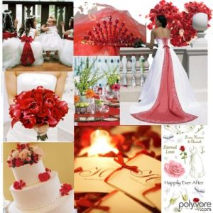 Red wedding decorations- Lethal Rhythms