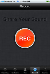 Soundcloud App on Phone-Lethal Rhythms