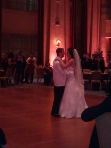 David and his bride Jenna during their first dance to Michael Buble- Hold on
